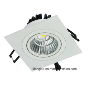 High Quality Recessed COB Chip 7W 9W LED Square Downlight pictures & photos