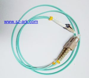 Sc-LC Mini Om3 Duplex Fiber Optic Patchcord pictures & photos