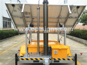 Telescopic Mast Battery Powered Night Scan Trailer Portable Light Tower LED, Emergency Electric 12V Mobile Solar Light Tower pictures & photos