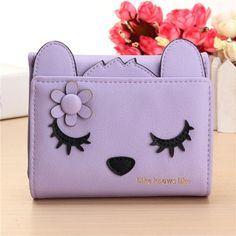 Women Cute Cat Short Card Holder Coin Wallet Bags (BDMC030) pictures & photos