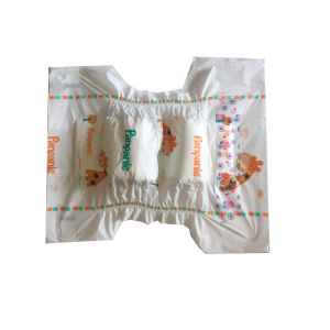 Cute PE Backsheet PP Tapes Disposable Soft Baby Diapers pictures & photos