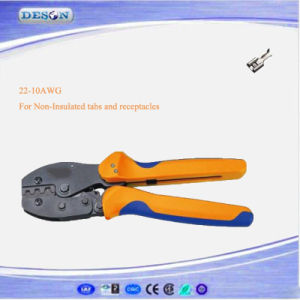 European Style Ratchet Crimping Plier for Non-Insulated Tabs and Receptacles pictures & photos