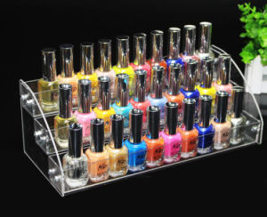 Acrylic Nail Polish Table Rack Organizer Display (Hold Up To 70 Bottles) pictures & photos