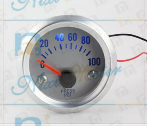 Auto Oil Pressure Gauge with White Dial pictures & photos
