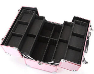 Large Professional Makeup Aluminum Alloy Makeup Portable Storage Layer Case pictures & photos