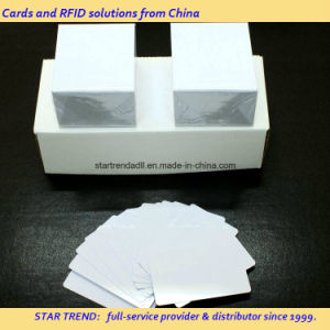 Blank Plastic Blue Card of Cr80/30mil for Retailer Stock pictures & photos