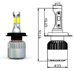 LED Car Headlight H1 H3 H7 H11 H4 880 881 9006 9005 COB, High Power LED Headlight Bulb H7 pictures & photos