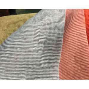 Woven Textile Nylon Rayon Crinkle Crepe Fabric for Dress
