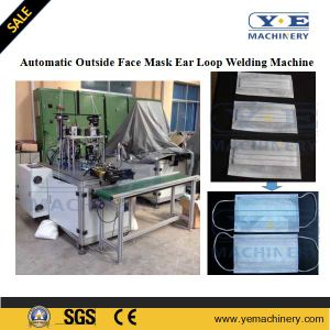 Automatic Outside Nonwoven Face Mask Ear Loop Sealing Machine pictures & photos