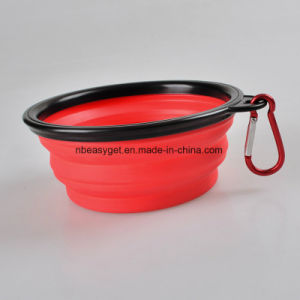 Travel Dog Bowl, Silicone BPA Free Foldable Pet Supplies Collapsible Pet Food Water Feeding Bowl for Dog & Cat pictures & photos