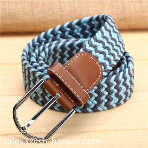 New Arrival Laser Alloy Buckle Unisex Casual Fabric Elastic Belt