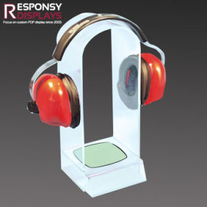 Counter Top Acrylic Headphone Holder Display Rack at Airport pictures & photos