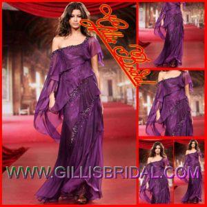 Custom Made Wedding Dresses, Column One Shoulder Beaded Chiffon Celebrity Dresses, Formal Party Evening Dress 3245