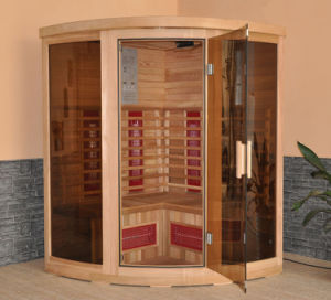 Double-Side Control Board Red Cedar Infrared Sauna (FIS-3G) pictures & photos