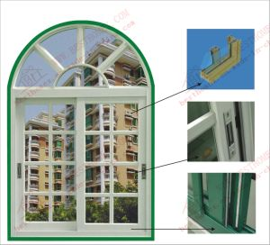 Aluminum Arch Sliding Window with Gregorian Bars (BHA-SWA01) pictures & photos