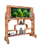 Acrylic Aquarium Into Log Screen, Log Screen Aquarium