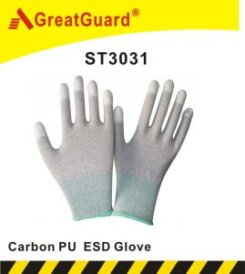 Carbon Top Fit ESD Glove (ST3031) pictures & photos