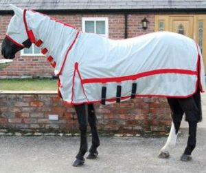 White Summer Breathable Polycotton Horse Rug (SMR3227) pictures & photos