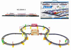 Battery Operated Railway Train with Cave & Bridge (2904A-3)