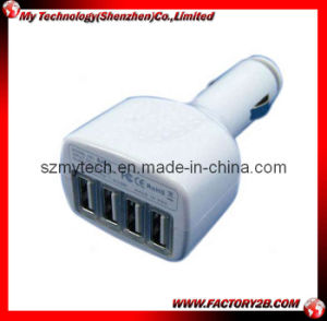 4 USB Port Car Charger for iPad and iPhone and iPod