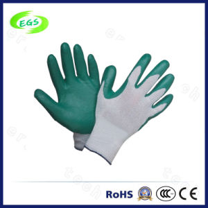 10′′ Full Dipped Knitted Wrist and Interlock Liner Nitrile Gloves pictures & photos