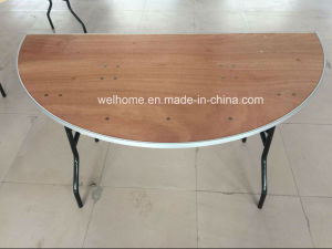 Half Moon Plywood Folding Table pictures & photos