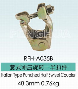 Italian Type Punched Half Swivel Coupler (RFH-A035B) pictures & photos