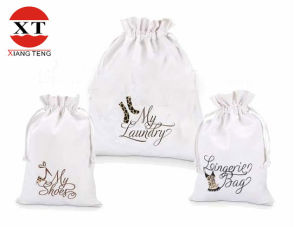 100% Cotton Gift Drawstring Bag pictures & photos