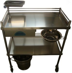 Stainless Steel Medical Treatment Trolley (THR-MT035) pictures & photos