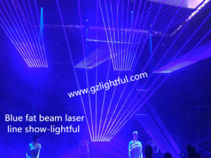 10 Heads 500MW Blue Fat Beam Stage Laser Lamp