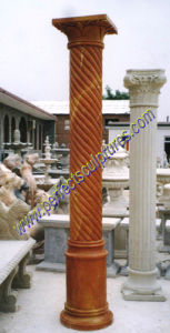Stone Marble Granite Sandstone Hollow Roman Column Pillar (QCM019) pictures & photos