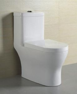 Hotel Bathroom Siphon Jet One Piece Toilet (M-2229)
