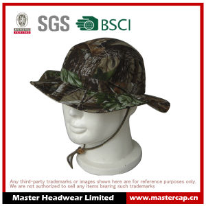 100% Cotton Camouflage Cap Bucket Hat Sun Hat for Adults