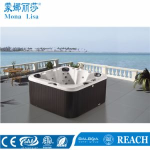 Outdoor Free Standing Hydro Aqua Air Bubble Jets Whirlpool Massage Acrylic SPA Bathtub (M-3352) pictures & photos