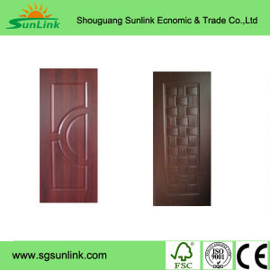 Modern House Design Veneer Door Skin Moulded Wooden Door pictures & photos