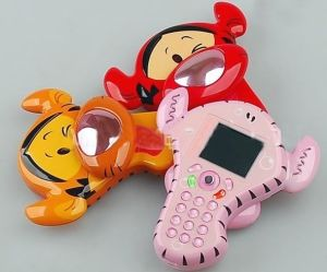 Cartoon Cell Phones With Monkey Appearance for Kids and Ladies