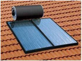 Roof Mounted Flat Panel Solar Water Heater