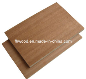 Sapele Veneered Plywood for Furniture and Decoration
