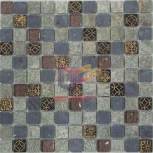 Quartz Stone Mix Glass Mosaic (CSR071) pictures & photos