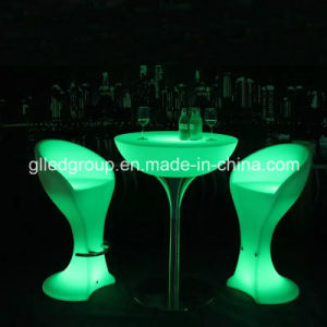 Round Plastic Coffee Table - Cocktail Table - Modern LED Accent Table