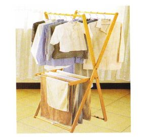 Wood Clothes Rack