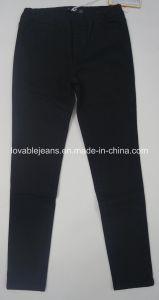 7.6oz Bright Black Long Pants (HY2347-01TM) pictures & photos
