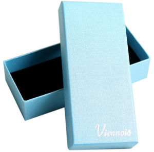 High Quality Blue Colour Jewelry Packing Box (YY--B0326) pictures & photos