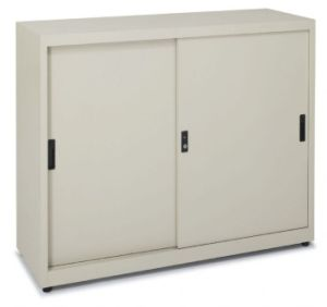 Steel Storage Cabinets Sliding Doors with Adjustable Shelf (SPL-SDC02) pictures & photos