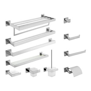 Modern Simple Series Bathroom Accessories Set in Polished Stainless Steel pictures & photos