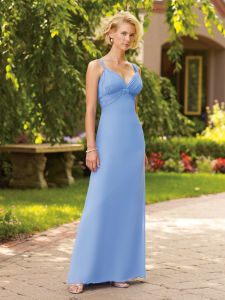 V Neck Bridesmaid Dress Bd01