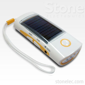Charger With LED Solar Flashlight (CHS14)