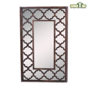 Distressed Wood Mirror with Beveled Glass pictures & photos