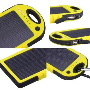 Dual USB Port 12000mAh Portable Solar Battery Charger Power Bank pictures & photos