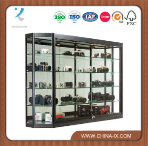 Wall Mounted Display Case Mirror Back Sliding Doors pictures & photos